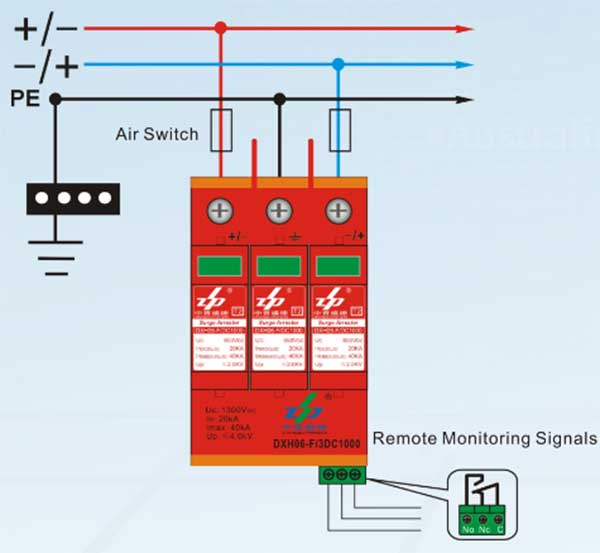dc surge protection device  Ⅳ  wiring diagram  spd